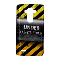 Under Construction Sign Iron Line Black Yellow Cross Lg G4 Hardshell Case by Mariart