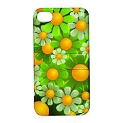 Sunflower Flower Floral Green Yellow Apple Iphone 4/4s Hardshell Case With Stand by Mariart