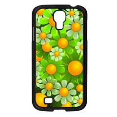 Sunflower Flower Floral Green Yellow Samsung Galaxy S4 I9500/ I9505 Case (black) by Mariart