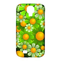 Sunflower Flower Floral Green Yellow Samsung Galaxy S4 Classic Hardshell Case (pc+silicone) by Mariart