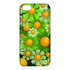 Sunflower Flower Floral Green Yellow Apple Iphone 5c Hardshell Case by Mariart
