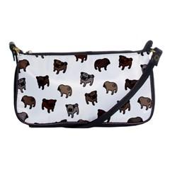 Pug Dog Pattern Shoulder Clutch Bags by Valentinaart