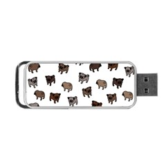 Pug Dog Pattern Portable Usb Flash (two Sides) by Valentinaart
