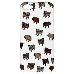 Pug Dog Pattern Apple Iphone 5 Hardshell Case by Valentinaart