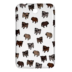 Pug Dog Pattern Samsung Galaxy Tab 3 (7 ) P3200 Hardshell Case  by Valentinaart