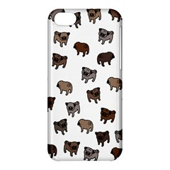 Pug Dog Pattern Apple Iphone 5c Hardshell Case by Valentinaart