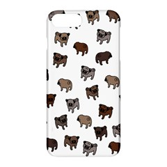 Pug Dog Pattern Apple Iphone 7 Plus Hardshell Case by Valentinaart