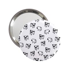 Pug Dog Pattern 2 25  Handbag Mirrors by Valentinaart