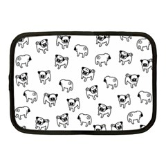 Pug Dog Pattern Netbook Case (medium)  by Valentinaart