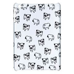 Pug Dog Pattern Apple Ipad Mini Hardshell Case by Valentinaart