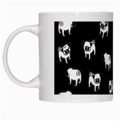 Pug Dog Pattern White Mugs by Valentinaart
