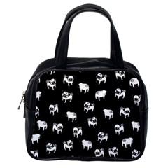 Pug Dog Pattern Classic Handbags (one Side) by Valentinaart