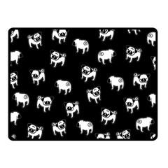 Pug Dog Pattern Fleece Blanket (small) by Valentinaart