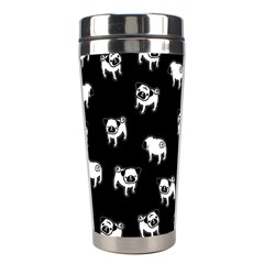 Pug Dog Pattern Stainless Steel Travel Tumblers by Valentinaart