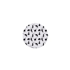 Black Cats Pattern 1  Mini Magnets by Valentinaart