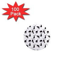 Black Cats Pattern 1  Mini Magnets (100 Pack)  by Valentinaart