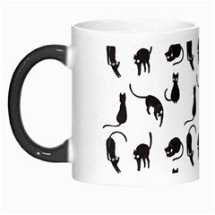 Black Cats Pattern Morph Mugs by Valentinaart