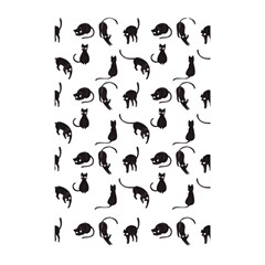 Black Cats Pattern Shower Curtain 48  X 72  (small)  by Valentinaart