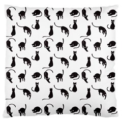 Black Cats Pattern Standard Flano Cushion Case (one Side) by Valentinaart