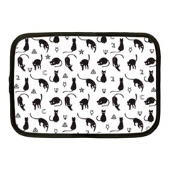 Black Cats And Witch Symbols Pattern Netbook Case (medium)  by Valentinaart