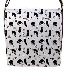 Black Cats And Witch Symbols Pattern Flap Messenger Bag (s) by Valentinaart