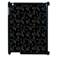 Black Cats And Witch Symbols Pattern Apple Ipad 2 Case (black) by Valentinaart