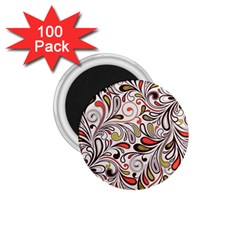 Colorful Abstract Floral Background 1 75  Magnets (100 Pack)  by TastefulDesigns