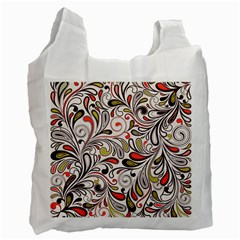 Colorful Abstract Floral Background Recycle Bag (one Side) by TastefulDesigns