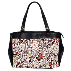 Colorful Abstract Floral Background Office Handbags (2 Sides)  by TastefulDesigns
