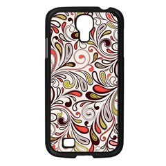 Colorful Abstract Floral Background Samsung Galaxy S4 I9500/ I9505 Case (black) by TastefulDesigns