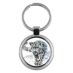 Snow Leopard Key Chains (round)  by kostart