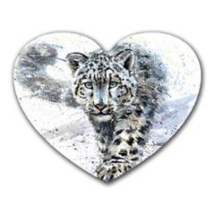 Snow Leopard Heart Mousepads by kostart
