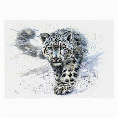 Snow Leopard Large Glasses Cloth (2 Side) by kostart