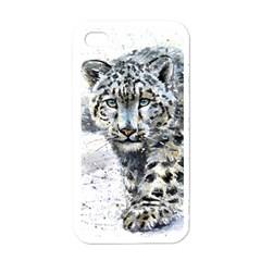 Snow Leopard Apple Iphone 4 Case (white) by kostart