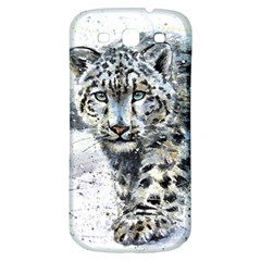 Snow Leopard Samsung Galaxy S3 S Iii Classic Hardshell Back Case by kostart