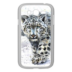 Snow Leopard Samsung Galaxy Grand Duos I9082 Case (white) by kostart