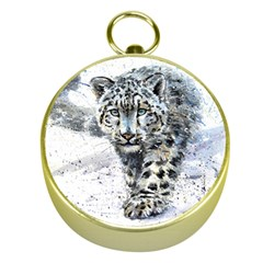 Snow Leopard Gold Compasses by kostart