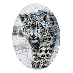 Snow Leopard  Ornament (oval) by kostart