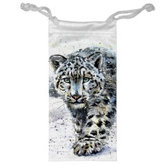 Snow Leopard  Jewelry Bag by kostart