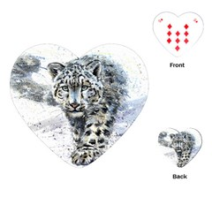 Snow Leopard  Playing Cards (heart)  by kostart