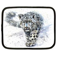 Snow Leopard  Netbook Case (xl)  by kostart