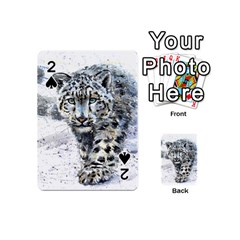 Snow Leopard  Playing Cards 54 (mini)  by kostart
