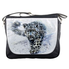 Snow Leopard  Messenger Bags by kostart