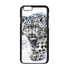 Snow Leopard  Apple Iphone 6/6s Black Enamel Case by kostart
