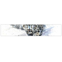 Snow Leopard  Flano Scarf (large) by kostart