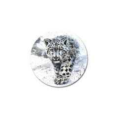 Snow Leopard  Golf Ball Marker (4 Pack) by kostart