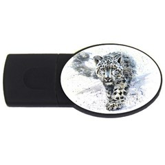 Snow Leopard  Usb Flash Drive Oval (4 Gb) by kostart