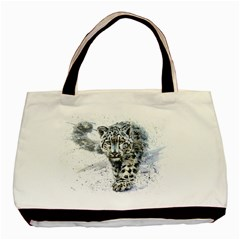 Snow Leopard  Basic Tote Bag (two Sides) by kostart