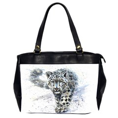 Snow Leopard  Office Handbags (2 Sides)  by kostart