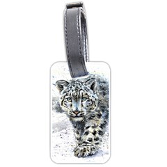 Snow Leopard  Luggage Tags (one Side)  by kostart